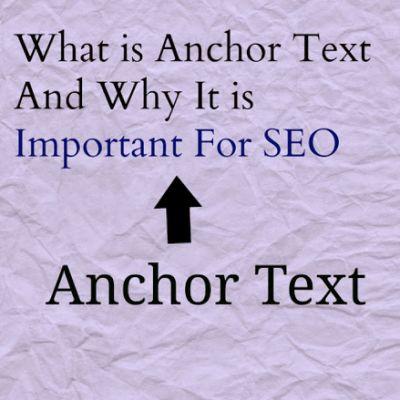 Backlinks - Anchor Text